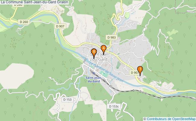 plan La Commune Saint-Jean-du-Gard Associations La Commune Saint-Jean-du-Gard : 8 associations