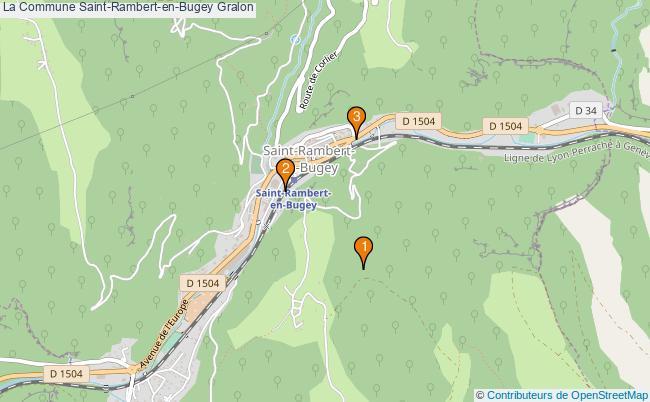 plan La Commune Saint-Rambert-en-Bugey Associations La Commune Saint-Rambert-en-Bugey : 3 associations