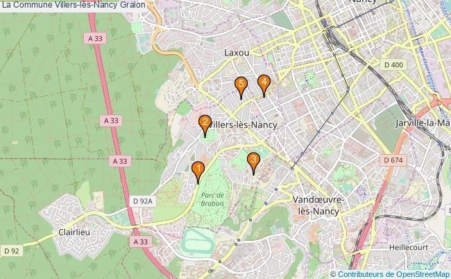 plan La Commune Villers-lès-Nancy Associations La Commune Villers-lès-Nancy : 5 associations