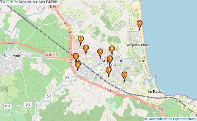 plan La Culture Argelès-sur-Mer Associations La Culture Argelès-sur-Mer : 11 associations