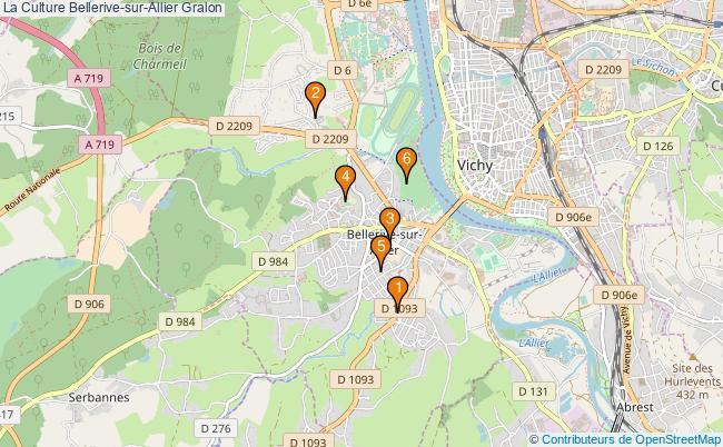 plan La Culture Bellerive-sur-Allier Associations La Culture Bellerive-sur-Allier : 6 associations