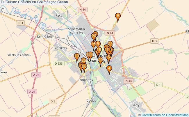 plan La Culture Châlons-en-Champagne Associations La Culture Châlons-en-Champagne : 26 associations