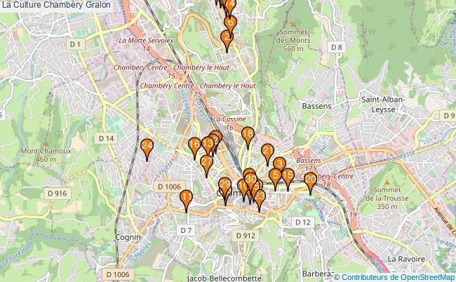 plan La Culture Chambéry Associations La Culture Chambéry : 70 associations
