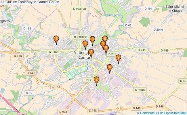 plan La Culture Fontenay-le-Comte Associations La Culture Fontenay-le-Comte : 13 associations