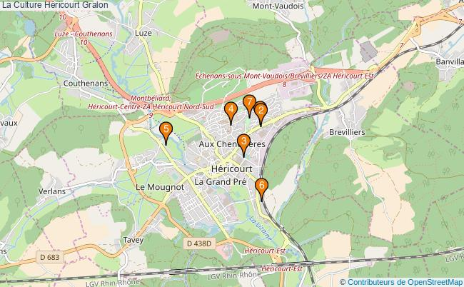 plan La Culture Héricourt Associations La Culture Héricourt : 7 associations