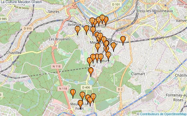 plan La Culture Meudon Associations La Culture Meudon : 39 associations