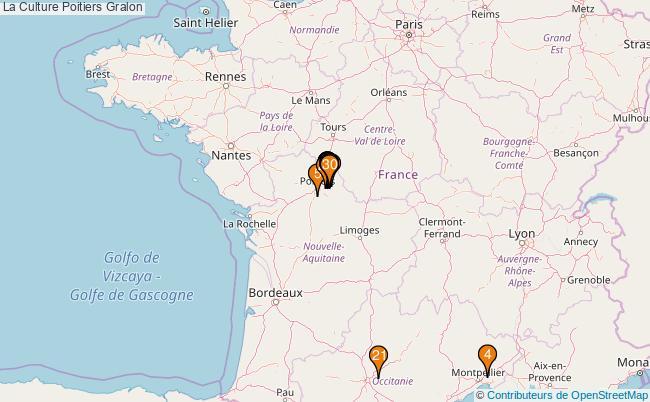 plan La Culture Poitiers Associations La Culture Poitiers : 139 associations