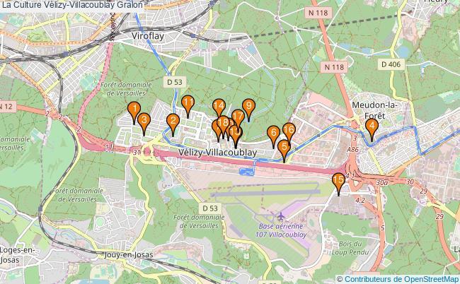 plan La Culture Vélizy-Villacoublay Associations La Culture Vélizy-Villacoublay : 15 associations