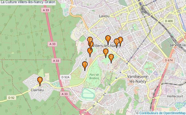 plan La Culture Villers-lès-Nancy Associations La Culture Villers-lès-Nancy : 13 associations