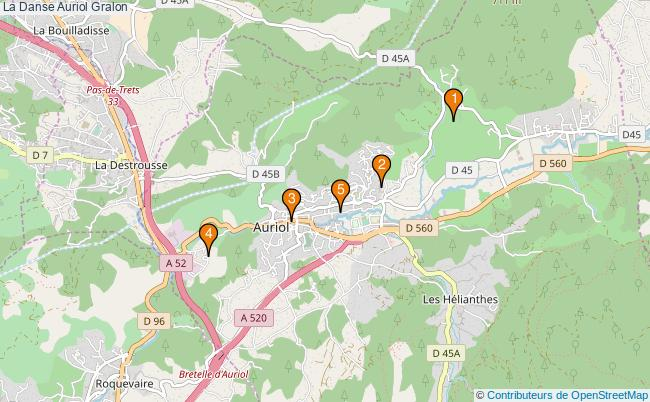 plan La Danse Auriol Associations La Danse Auriol : 4 associations