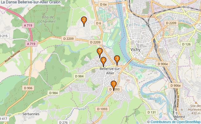 plan La Danse Bellerive-sur-Allier Associations La Danse Bellerive-sur-Allier : 5 associations