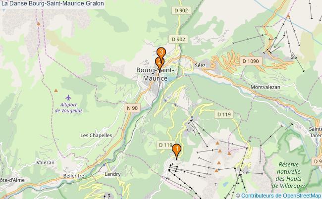 plan La Danse Bourg-Saint-Maurice Associations La Danse Bourg-Saint-Maurice : 3 associations