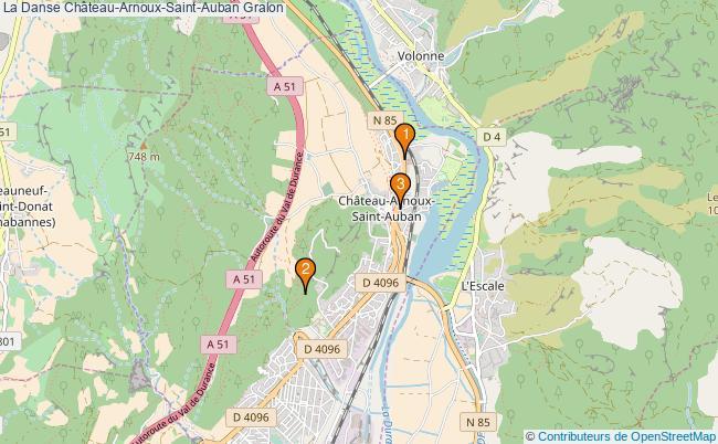 plan La Danse Château-Arnoux-Saint-Auban Associations La Danse Château-Arnoux-Saint-Auban : 2 associations