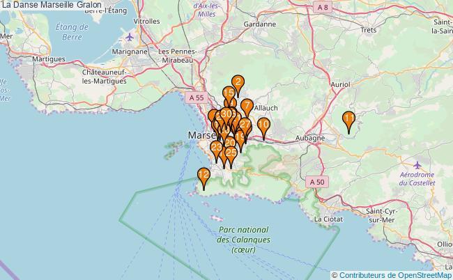 plan La Danse Marseille Associations La Danse Marseille : 377 associations