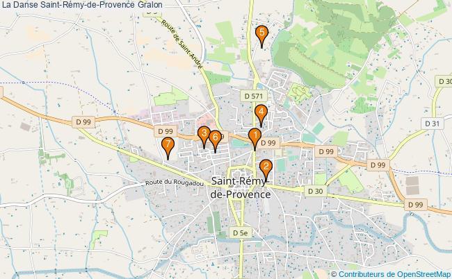 plan La Danse Saint-Rémy-de-Provence Associations La Danse Saint-Rémy-de-Provence : 7 associations