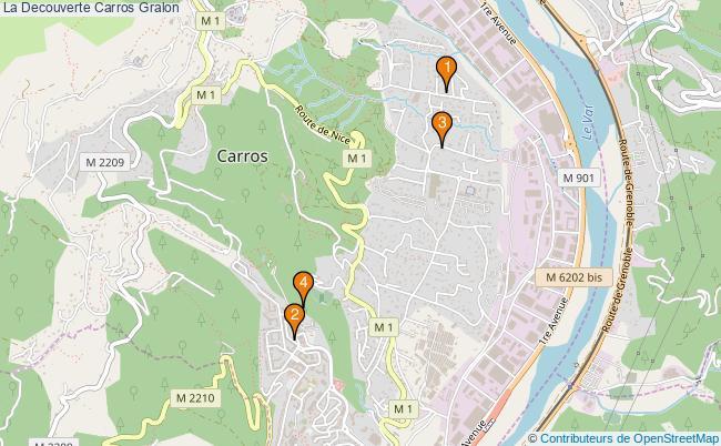 plan La Decouverte Carros Associations La Decouverte Carros : 5 associations