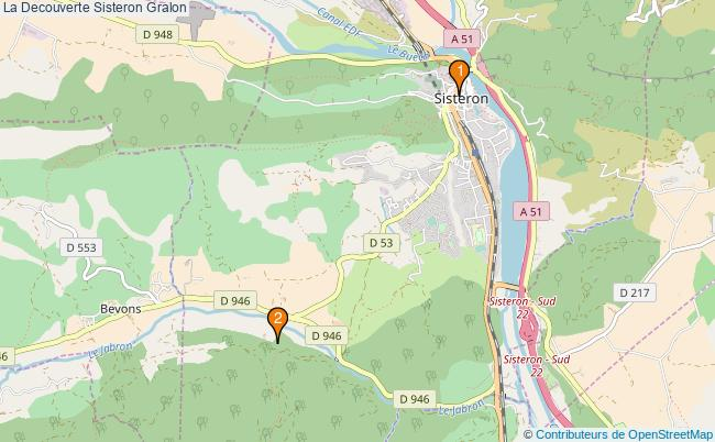 plan La Decouverte Sisteron Associations La Decouverte Sisteron : 3 associations