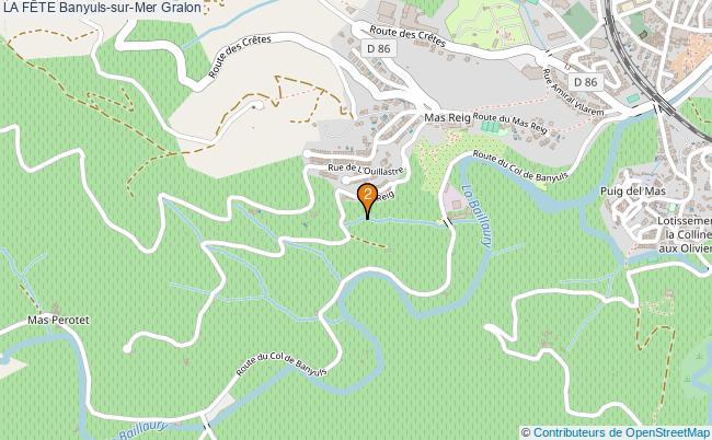 plan LA FÊTE Banyuls-sur-Mer Associations LA FÊTE Banyuls-sur-Mer : 2 associations