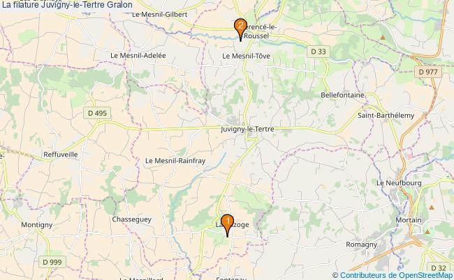 plan La filature Juvigny-le-Tertre Associations La filature Juvigny-le-Tertre : 2 associations