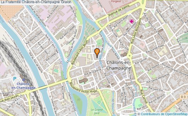 plan La Fraternité Châlons-en-Champagne Associations La Fraternité Châlons-en-Champagne : 2 associations
