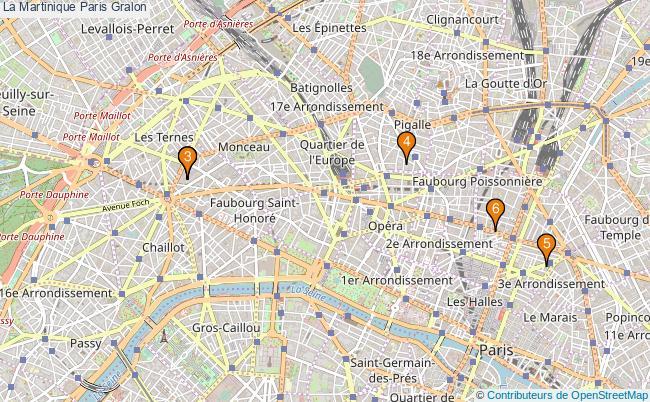 plan La Martinique Paris Associations La Martinique Paris : 7 associations
