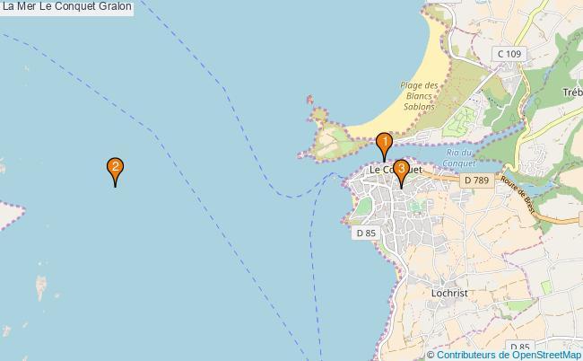 plan La Mer Le Conquet Associations La Mer Le Conquet : 3 associations