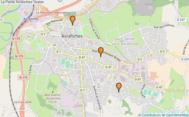 plan La Patrie Avranches Associations La Patrie Avranches : 3 associations