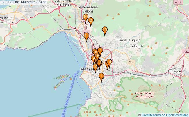 plan La Question Marseille Associations La Question Marseille : 17 associations