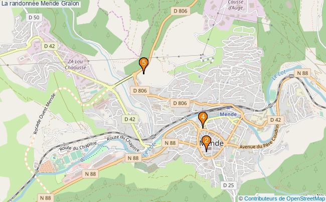 plan La randonnée Mende Associations La randonnée Mende : 4 associations