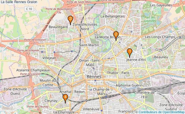 plan La Salle Rennes Associations La Salle Rennes : 5 associations