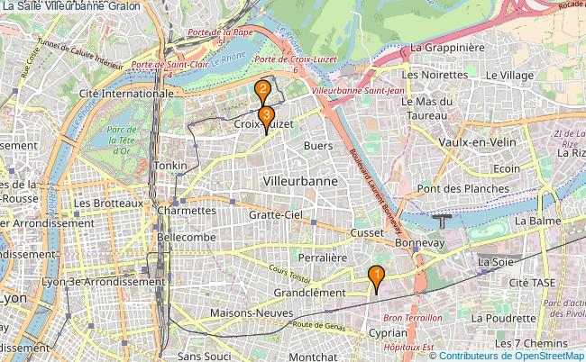 plan La Salle Villeurbanne Associations La Salle Villeurbanne : 2 associations