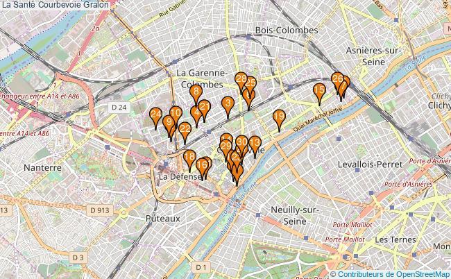 plan La Santé Courbevoie Associations La Santé Courbevoie : 38 associations
