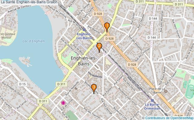 plan La Santé Enghien-les-Bains Associations La Santé Enghien-les-Bains : 4 associations