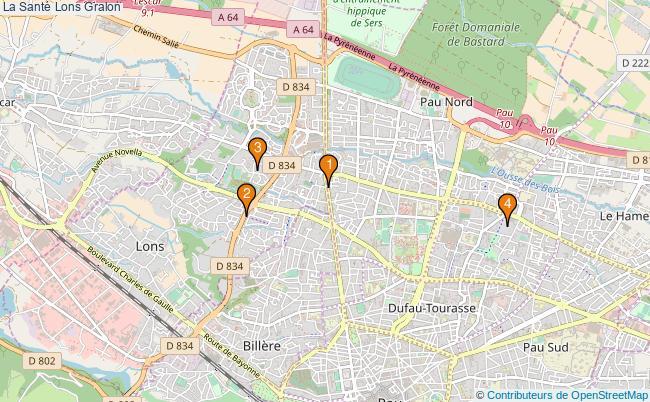 plan La Santé Lons Associations La Santé Lons : 6 associations