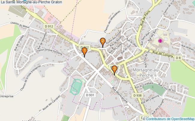 plan La Santé Mortagne-au-Perche Associations La Santé Mortagne-au-Perche : 4 associations