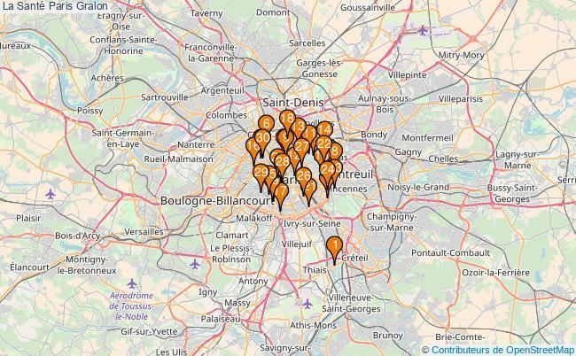 plan La Santé Paris Associations La Santé Paris : 1645 associations