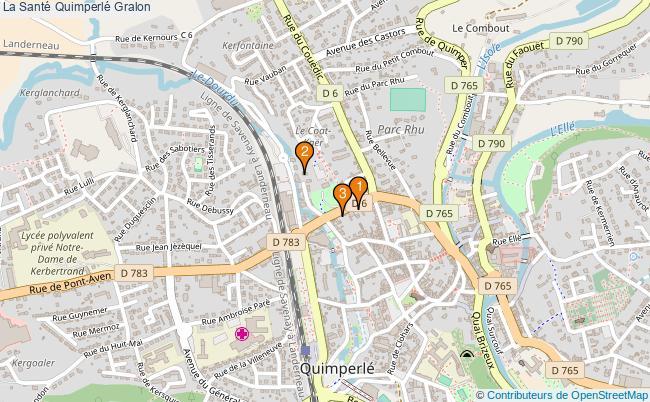 plan La Santé Quimperlé Associations La Santé Quimperlé : 4 associations