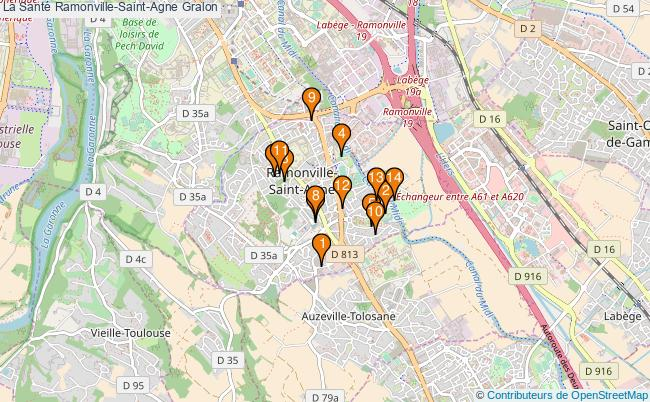 plan La Santé Ramonville-Saint-Agne Associations La Santé Ramonville-Saint-Agne : 16 associations