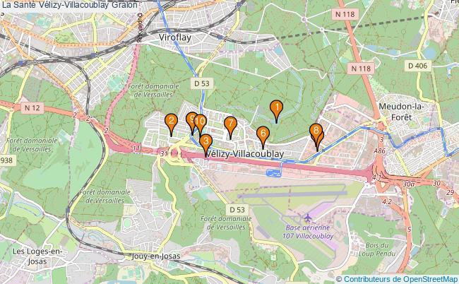 plan La Santé Vélizy-Villacoublay Associations La Santé Vélizy-Villacoublay : 8 associations