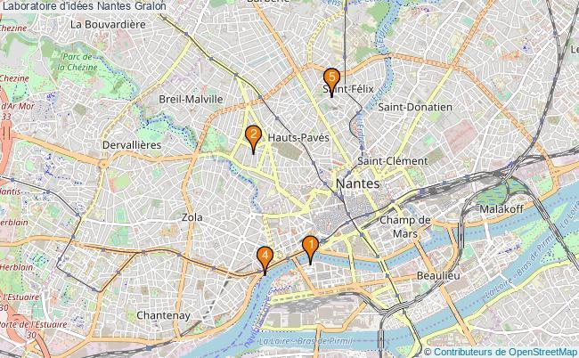 plan Laboratoire d'idées Nantes Associations laboratoire d'idées Nantes : 5 associations