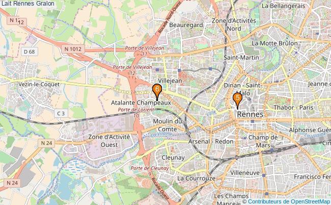 plan Lait Rennes Associations lait Rennes : 6 associations