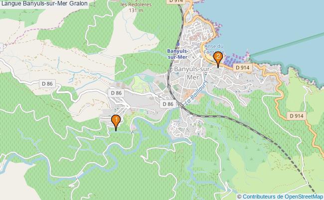 plan Langue Banyuls-sur-Mer Associations langue Banyuls-sur-Mer : 2 associations