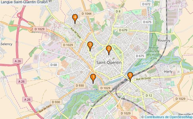 plan Langue Saint-Quentin Associations langue Saint-Quentin : 5 associations