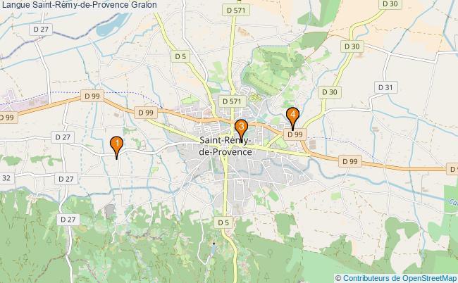 plan Langue Saint-Rémy-de-Provence Associations langue Saint-Rémy-de-Provence : 4 associations