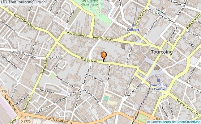 plan Le Débat Tourcoing Associations Le Débat Tourcoing : 2 associations