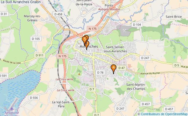 plan Le Sud Avranches Associations Le Sud Avranches : 6 associations