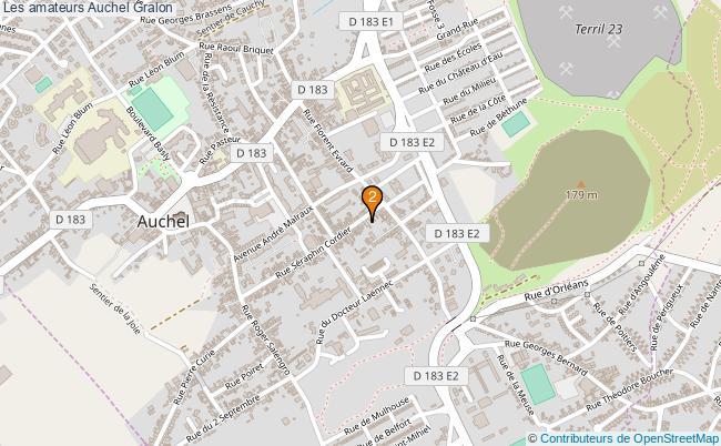 plan Les amateurs Auchel Associations Les amateurs Auchel : 2 associations