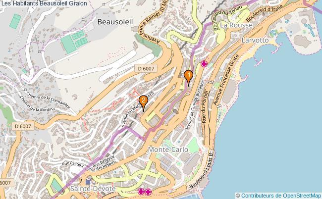 plan Les Habitants Beausoleil Associations Les Habitants Beausoleil : 2 associations