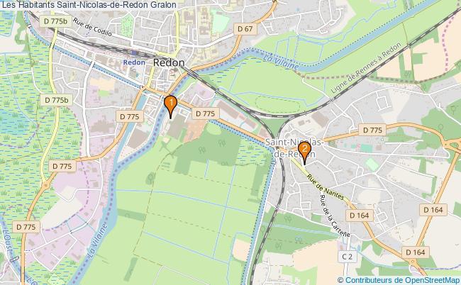 plan Les Habitants Saint-Nicolas-de-Redon Associations Les Habitants Saint-Nicolas-de-Redon : 2 associations