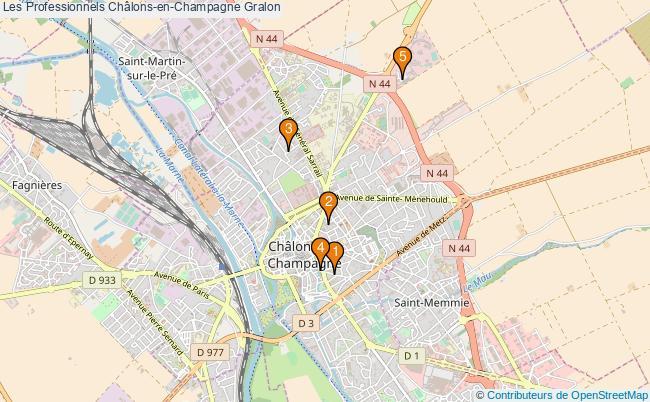 plan Les Professionnels Châlons-en-Champagne Associations Les Professionnels Châlons-en-Champagne : 5 associations